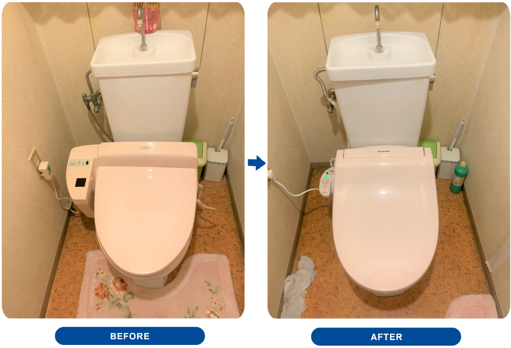 トイレ便座交換工事